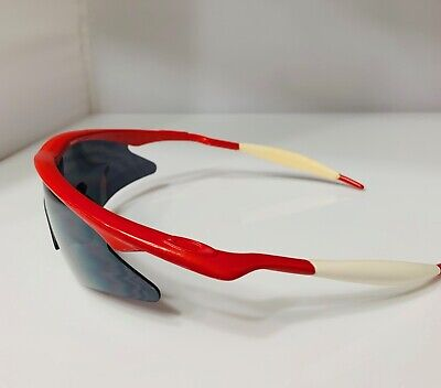 VINTAGE OAKLEY PRO  M FRAME Sport Sunglassee Red & White (Red And White Oakleys)