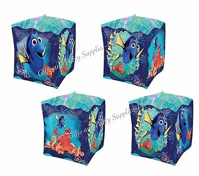 Finding Dory Multi Sided Cubez Balloon Birthday Party Supplies Decorations CUBE Blue Birthday Block