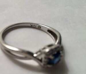 Sapphire, diamond, 10 K white gold Downtown-West End Greater Vancouver Area image 2