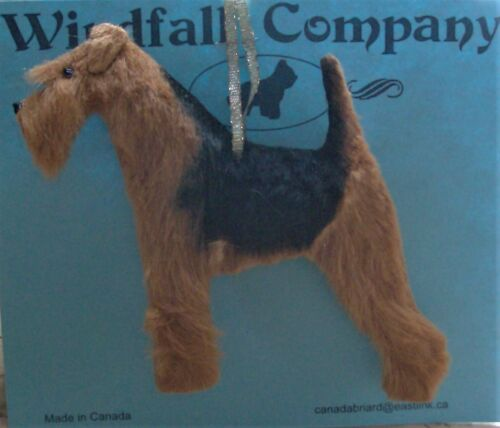 Airedale Terrier Dog Plush Christmas Ornament by W.C