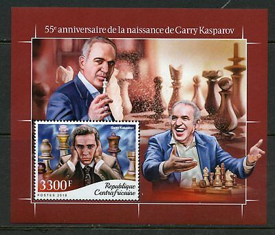 CENTRAL AFRICA 2018 55th BIRTHDAY OF GARRY KASPAROV  SOUVENIR  SHEET MINT NH