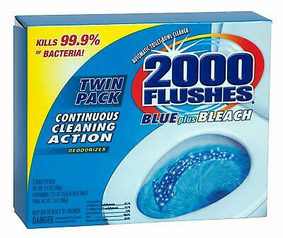 New!!! 2000 Flushes Automatic Toilet Bowl Cleaner 3.5 oz TWIN PACK Tablet 208017