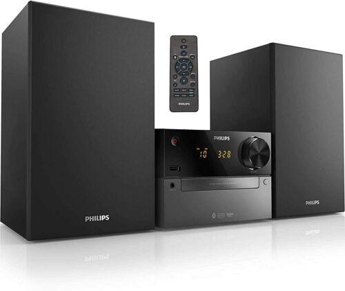 Philips Bluetooth Shelf Stereo Speaker System MP3/CD Player FM Radio AUX USB