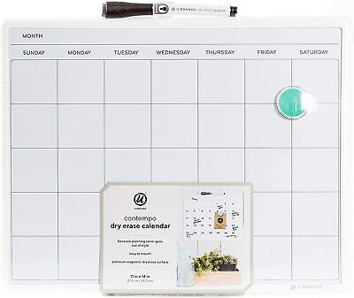 Monthly Wall Calendar Planner One Month Dry Erase Board White Large Home 14 X 11