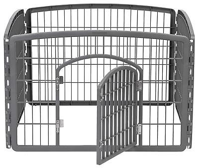 Outdoor Indoor Dog Playpen Puppy Cat Rabbit Cage Exercise Fence Play Pen, LARGE