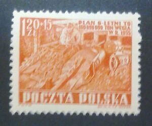 POLAND-STAMPS MNH Fi639 ScB69A Mi777 - Mining, 1952, clean, SLANIA, SŁANIA - <span itemprop=availableAtOrFrom>Reda, Polska</span> - POLAND-STAMPS MNH Fi639 ScB69A Mi777 - Mining, 1952, clean, SLANIA, SŁANIA - Reda, Polska