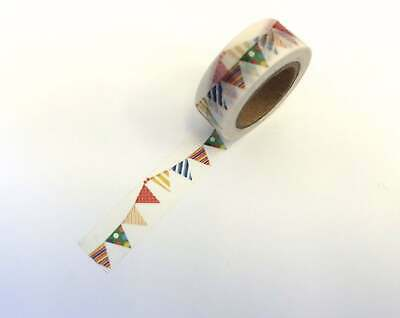 colorful Flag Pennant Bunting Washi Tape Papercraft Planner Supply Birthday