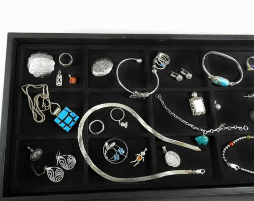 Vintage Sterling Silver Jewelry Lot Solid 925 Huge Estate Bracelets Rings #4