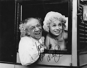 CARRY ON with SID JAMES in person signed 10x8 - BARBARA WINDSOR