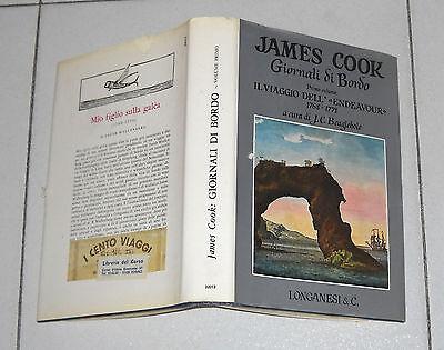 James Cook GIORNALI DI BORDO Primo volume Il Viaggio dell'Endeavour 1 ed 1971
