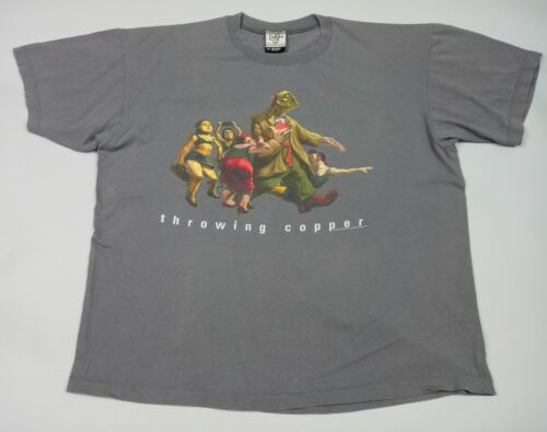 Vintage 1995 Live Throwing Copper Tour T-Shirt Grey XXL Graphic Concert Tee