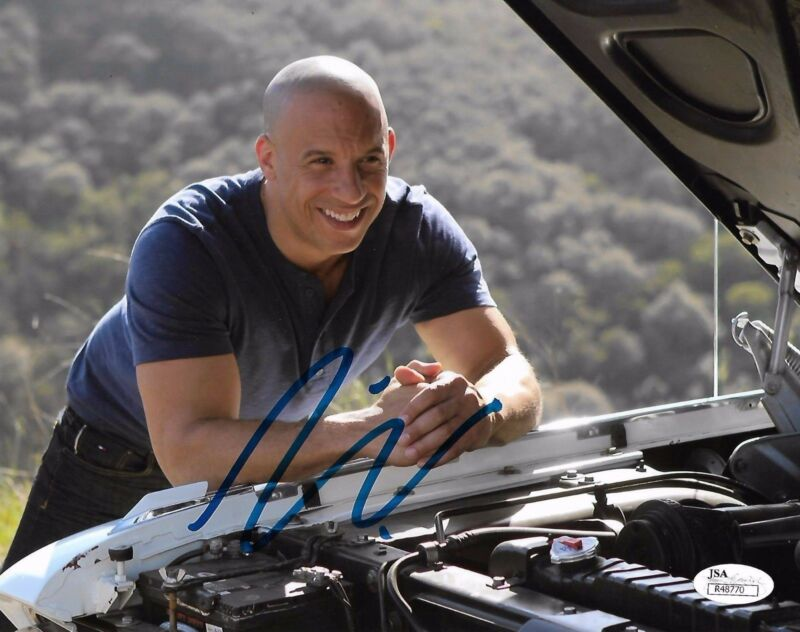 Vin Diesel Fast & Furious Autographed Signed 8x10 Photo JSA COA