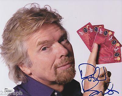 Richard Branson Signed 8X10 Photo W  Jsa Coa  K13931   Proof Virgin Atlantic