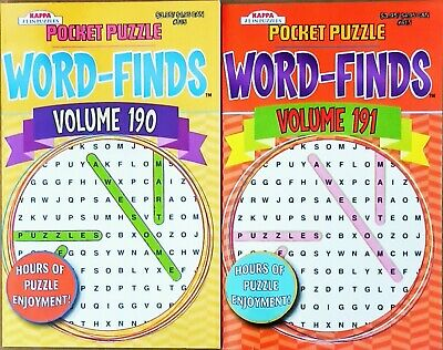 Pocket Puzzle Search Word Finds Vol. 190, 191 Lot of 2