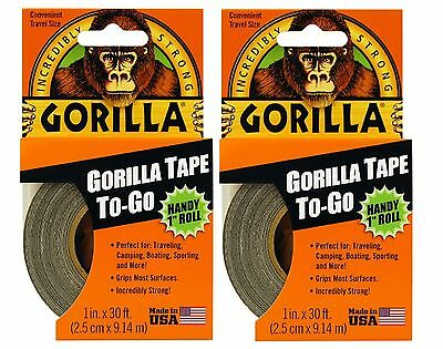 Gorilla Tape To Go - Gorilla Glue Handy Roll 1 X 30 Duct Tape - 2 Pack