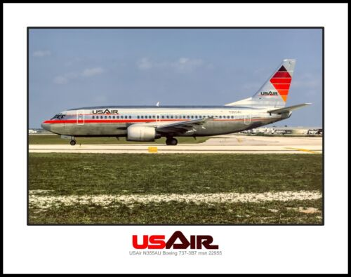 USAir Airlines Boeing 737-300 Experimental Colors 11x14 Photo (K020LGWB11X14)