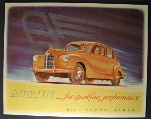 1950 Austin A40 Devon Sedan Sales Brochure Folder Excellent Original 50