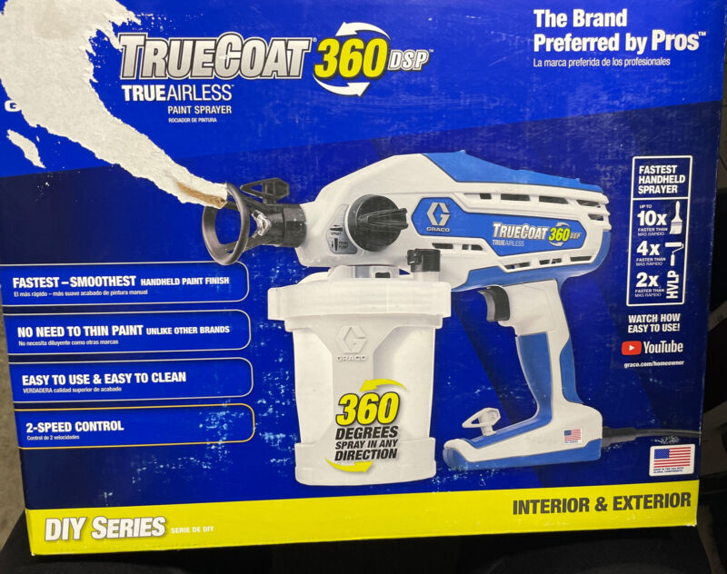 NEW GRACO TRUECOAT 360 DSP ELECTRIC AIRLESS PAINT SPRAYER 16Y386