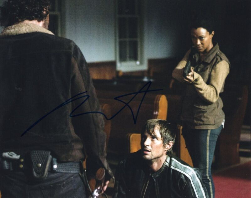 Andrew West The Walking Dead Gareth Zombie Killer Signed 8x10 Photo w/COA #2