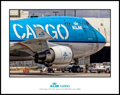 KLM Airlines Cargo Boeing 747 Nose 11x14 Photo (M118RGJM11X14)