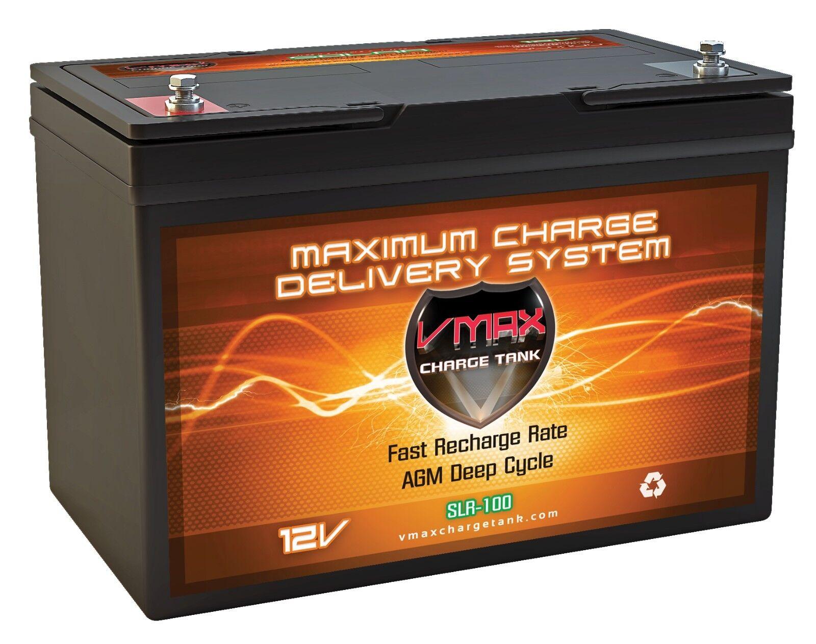 VMAX SLR100 100AH GR27 BATTERY AGM 12V FOR RENOGY PV Solar P