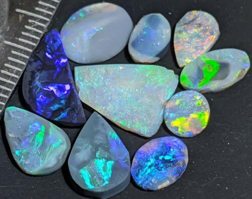 10.8cts ROUGH OPAL RUBS from Lightning Ridge! Black SemiBlack Crystal Lapidary