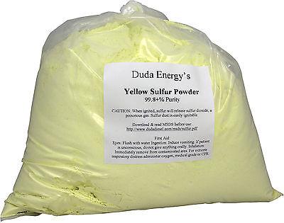 10 lb Ground Yellow Sulfur Powder 99.5+% Pure Industrial Grade Sulphur Feedstock