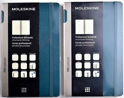 (Lot of 2) MOLESKINE Pro Collection Professional Notebook Structured Thinking
