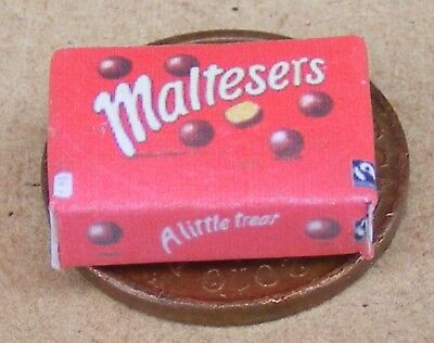 1:12 Scale Empty Maltesers Packet Dolls House Miniature Kitchen Sweet Accessory