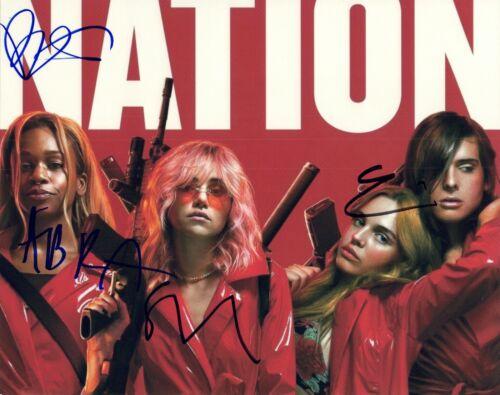 ASSASSINATION NATION Cast Signed 8x10 Photo x4 Bella Thorne Suki Abra Hari COA