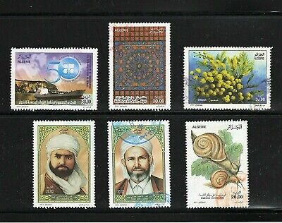 Algeria -- 6 diff used commemoratives from 2010-12 -- cv $9.75