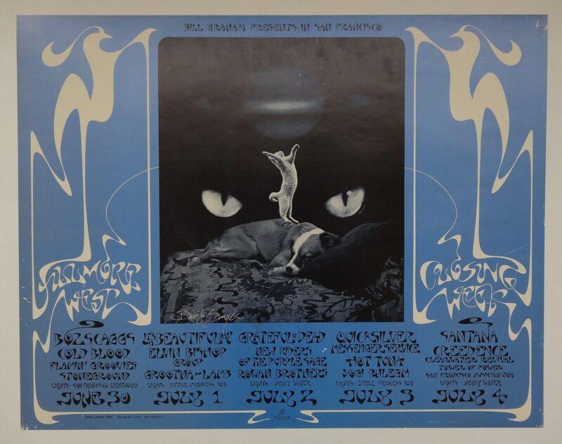 Fillmore Poster BG 287 1st Print Signed by David Singer