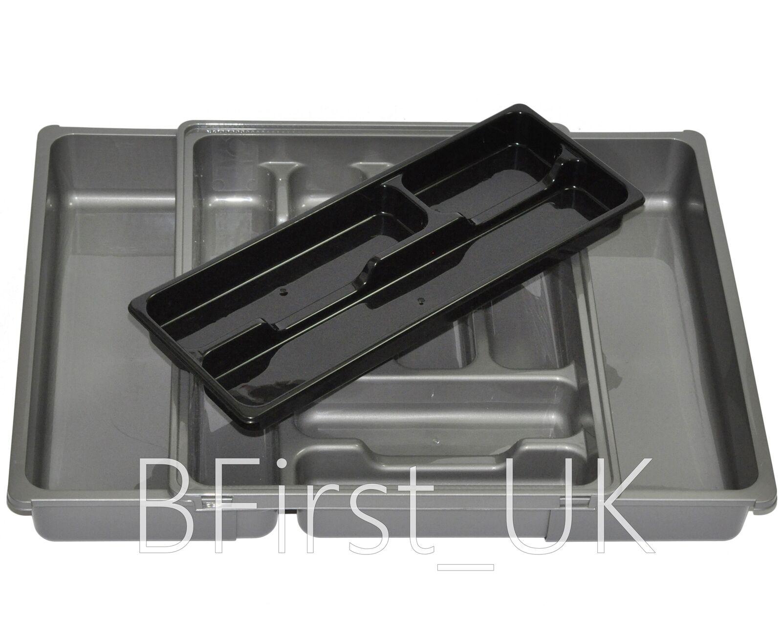 Plastic Adjustable Expanding Drawer Organiser Cutlery