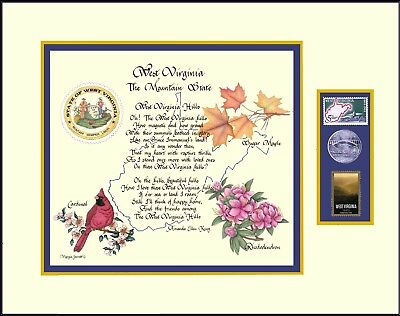 2013 West Virginia State Song, Bird, Seal With 1963 2013 STAMPS, And Quarter - $25.99