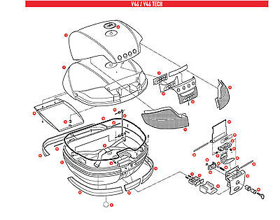 Z160 REPLACEMENT DOCUMENTS HOLDER INNER for GIVI BAULE V46 e V46 TECH - Inside Document Holder