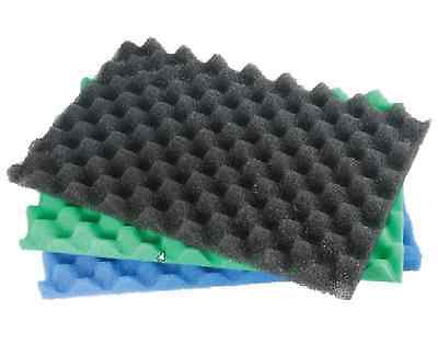 FISH POND FILTER FOAM SET OF 3 FINE MEDIUM COARSE 17 X 11 SPONGE