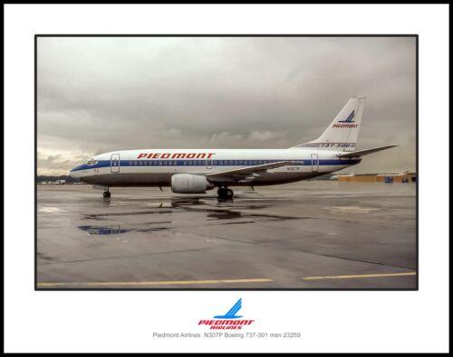 Piedmont Airlines Boeing 737-301 11x14 Photo (K108LGFH11X14)