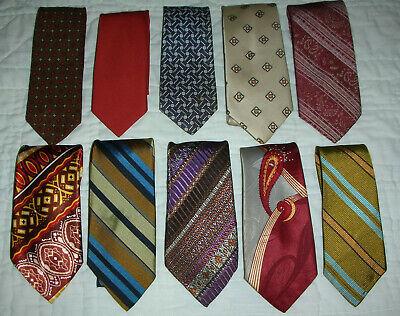 1950s Men's Ties, Bow Ties – Vintage, Skinny, Knit Lot of 10 Vtg MEN'S TIES Narrow 2-3/4