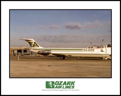 Ozark Airlines Douglas DC-9 11x14 Photograph (C120RGJF11X14)