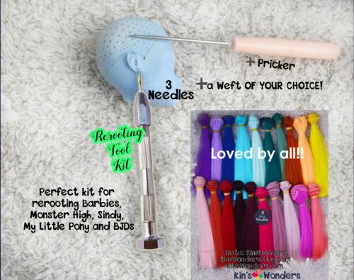 Rerooting Dolls Tool Rehairing Barbie Monster High Doll KinsWonders &Weft Needle