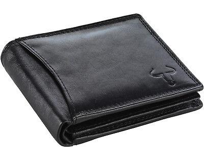 Goudsmid® RFID-Schutz Leder Geldbörse Geldbeutel Portemonnaie Ledergeldbörse AS2