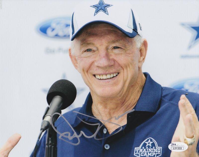Jerry Jones Signed 8x10 Photo w/ JSA COA #L51333 Dallas Cowboys