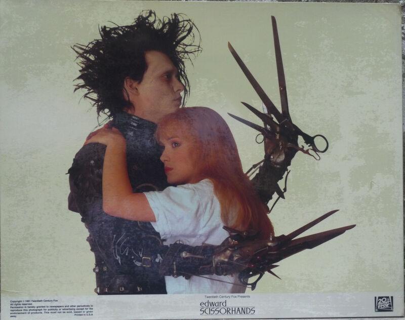 Tim Burton`s EDWARD SCISSORHANDS, Mint unopened ser of 8, Johnny Depp, lc2149
