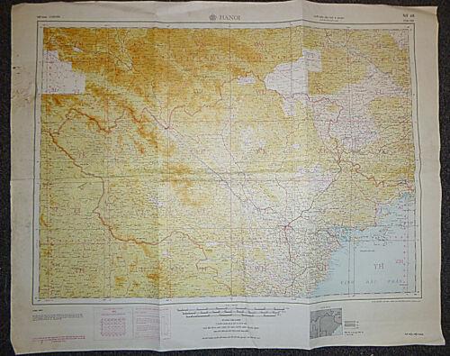 NF-48 - NORTH VIETNAM WAR MAP - 1972 - Hanoi - Haiphong - Son Tay, Dien Bien Phu