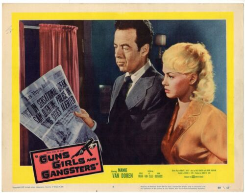 GUNS GIRLS AND GANGSTERS (1959) Mamie Van Doren & Gerald Mohr Crime Drama LC #4