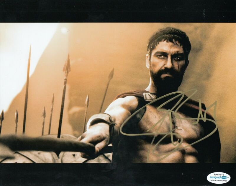 GERARD BUTLER signed (300) 8X10 Leonidas *PROOF* photo ACOA Authenticated #1