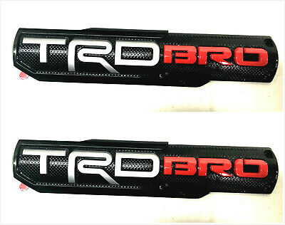 2x TRD Bro Brother  Side Front Door Badge Nameplate Emblem For Tacoma Tundra