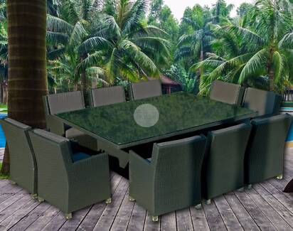Extra Large 10 Seater Outdoor Dining Set Nerang Gold Coast West Preview