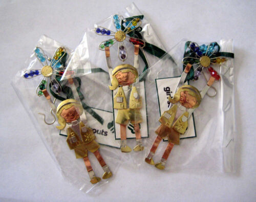 Girl Scout LOT 3 DAISY CHRISTMAS ORNAMENT Holiday Tree Decoration STOCKING STUFF