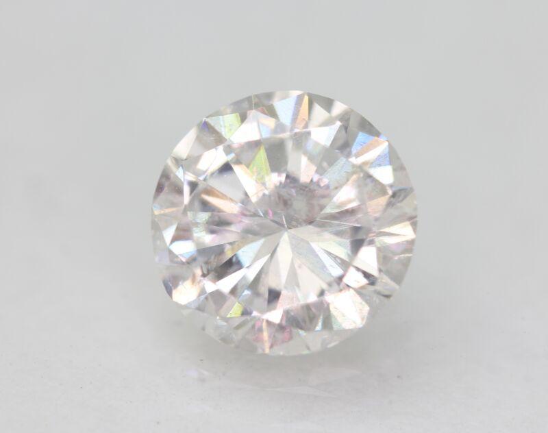 Certified 1.56 Carat D SI1 Round Brilliant Enhanced Natural Loose Diamond 7.69mm